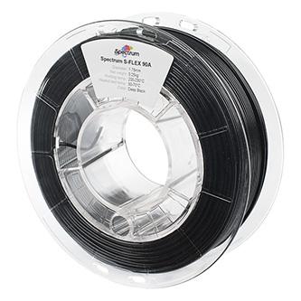 Spectrum 3D filament, S-Flex 90A, 1,75mm, 250g, 80262, deep black