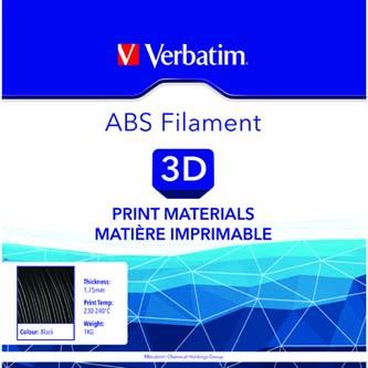 Verbatim 3D filament, ABS, 1,75mm, 1000g, 55010, černá