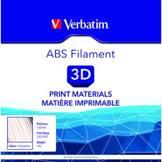 Verbatim 3D filament, ABS, 2,85mm, 1000g, 55019, transparentní