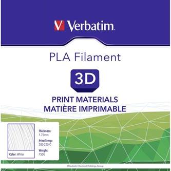 Verbatim 3D filament, PLA, 1,75mm, 750g, 55285, bílá