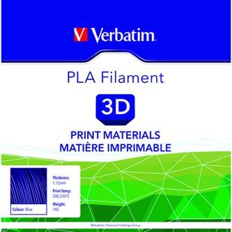 Verbatim 3D filament, PLA, 1,75mm, 1000g, 55269, modrá