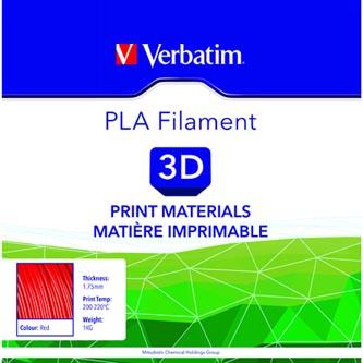 Verbatim 3D filament, PLA, 1,75mm, 1000g, 55270, červená