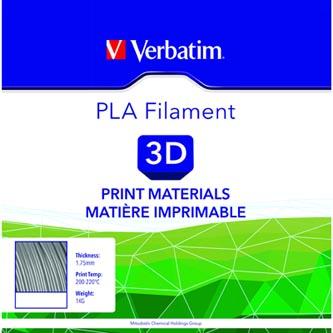 Verbatim 3D filament, PLA, 1,75mm, 1000g, 55275, stříbrná