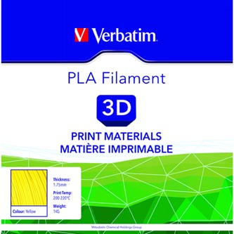 Verbatim 3D filament, PLA, 1,75mm, 1000g, 55273, žlutá