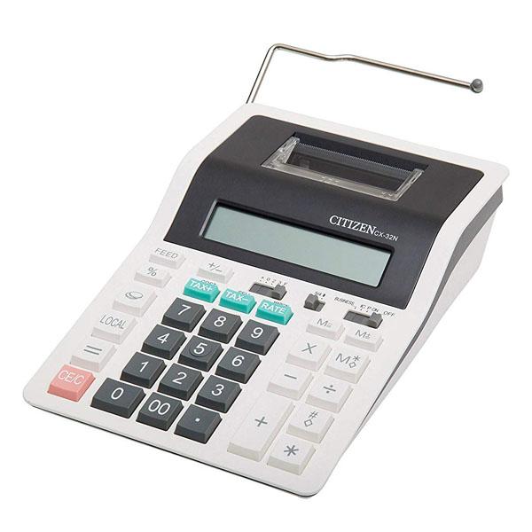Citizen Kalkulačka CX32N, bíločerná, dvanáctimístná s tiskem, dvoubarevný tisk