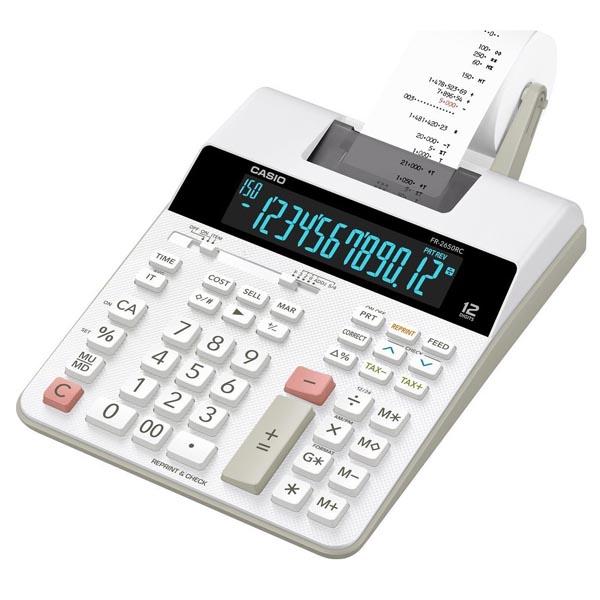 Casio Kalkulačka FR 2650 RC, bílá, dvanáctimístná, síťové napájení