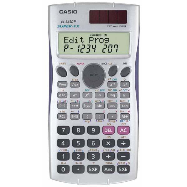 Casio Kalkulačka FX 3650 P, bílá, programovatelná, dvanáctimístná