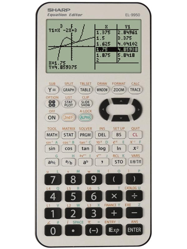 Sharp Kalkulačka EL-9950G, černo-bílá, školní