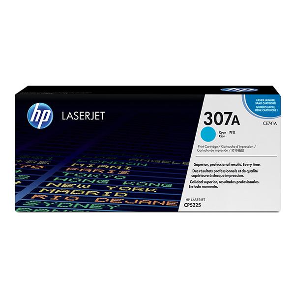 HP originální toner CE741A, cyan, 7300str., HP 307A, HP Color LaserJet CP5225