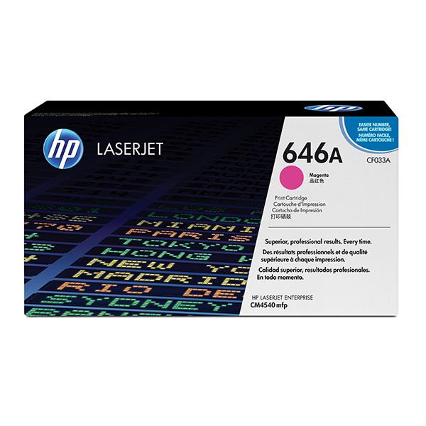 HP originální toner CF033A, magenta, 12500str., HP 646A, HP Color LaserJet CM4540, 4540f, 4540fskm