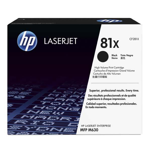HP originální toner CF281X, black, 25000str., HP 81X, HP LaserJet Enterprise Flow M630z, M630dn, M630f, M63