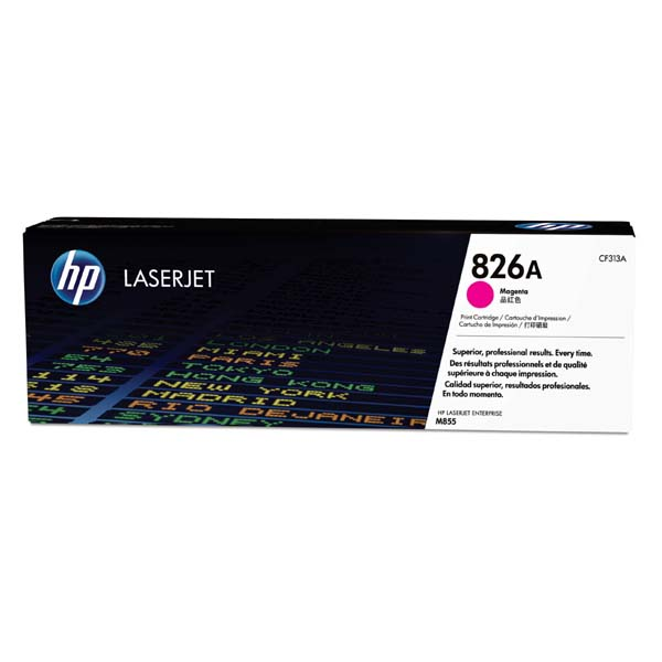 HP originální toner CF313A, magenta, 31500str., HP 826A, HP Color LaserJet Enterprise M855dn, M855x+, M855x+