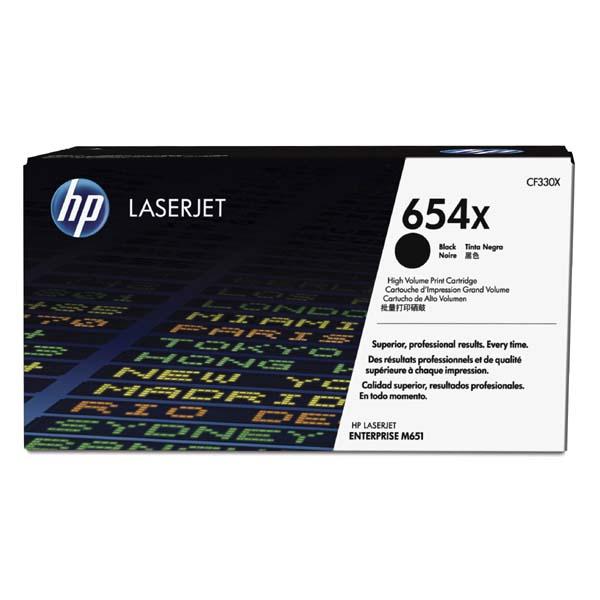 HP originální toner CF330X, black, 20500str., HP 654X, HP Color LaserJet Enterprise Flow M680z, M651dn, M651
