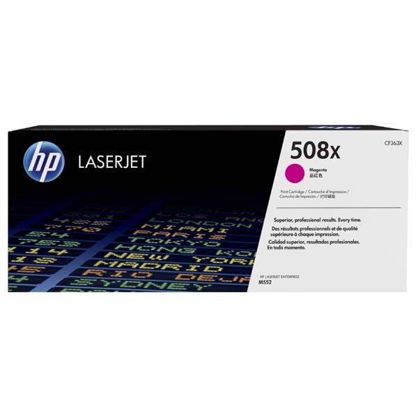 HP originální toner CF363X, magenta, 9500str., HP 508X, high capacity, HP Color LaserJet Enterprise M552dn,M553dn,553n,553x