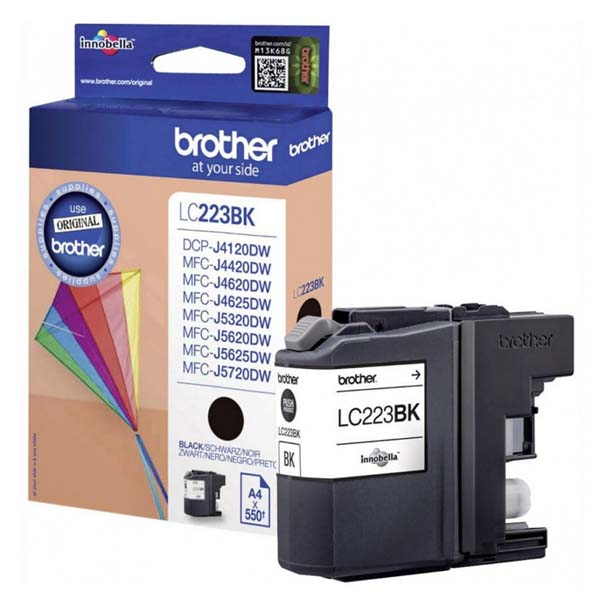 Brother originální ink LC-223BK, black, 600str., Brother MFC-J4420DW, MFC-J4620DW, MFC-J4120DW, MFC-J4625DW