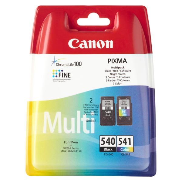 Canon originální ink PG540/CL541 multipack, black/color, 5225B006, Canon Pixma MG2150, 3150