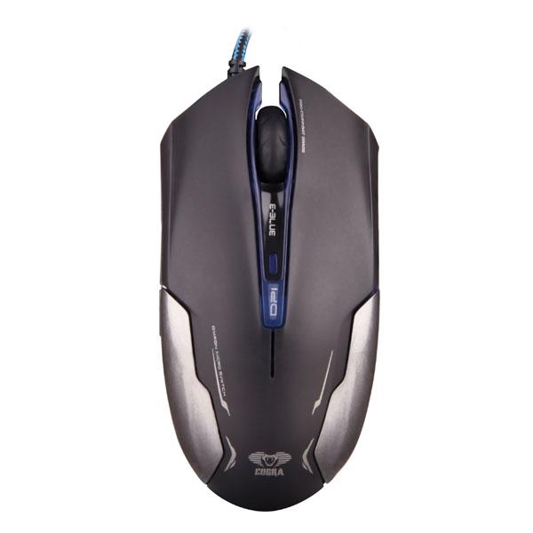 E-Blue Myš Cobra EMS653, optická, 6tl., 1 kolečko, drátová (USB), černá, 3000DPI, herní