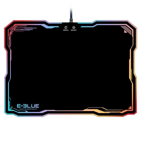 E-Blue, Podložka pod myš, RGB podsvícení, herní, černá