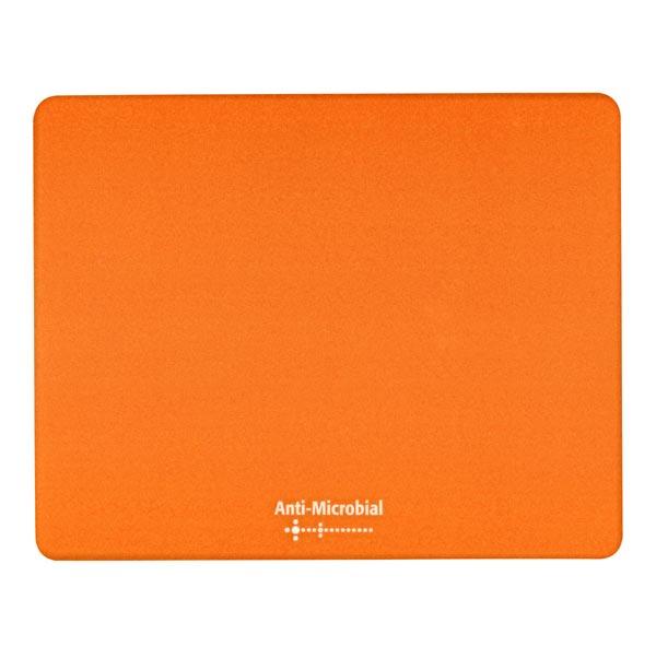 Podložka pod myš, Polyprolylen, oranžová, 24x19cm, 0.4mm, Logo, antimikrobiální