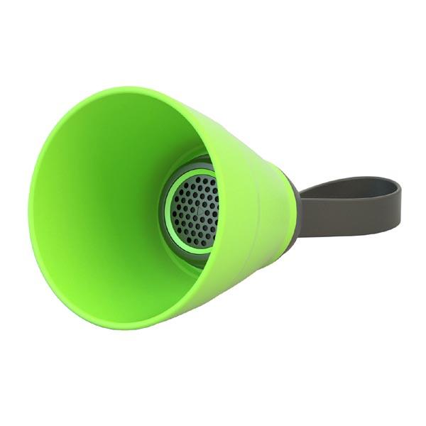 Bluetooth reproduktor SALI, 3W, regulace hlasitosti, zelený, skládací, voděodolný, bluetooth+USB+3.5mm konektor