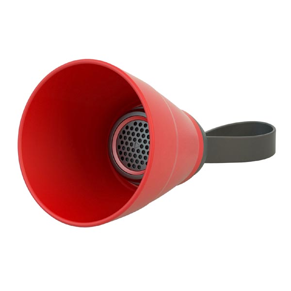 Bluetooth reproduktor SALI, 3W, regulace hlasitosti, červený, skládací, voděodolný, bluetooth+USB+3.5mm konektor