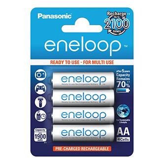 Nabíjecí baterie, AA (HR6), 1.2V, 1900 mAh, Panasonic, blistr, 4-pack, Eneloop