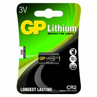 Baterie fotolithiová, CR2, 3V, GP, blistr, 1-pack, od -40 °C do +60 °C
