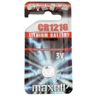 Baterie lithiová, knoflíková, CR1216, 3V, Maxell, blistr, 1-pack