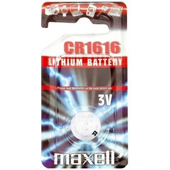Baterie lithiová, knoflíková, CR1616, 3V, Maxell, blistr, 1-pack