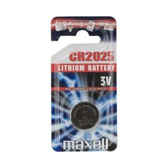 Baterie lithiová, CR2025, 3V, Maxell, blistr, 1-pack