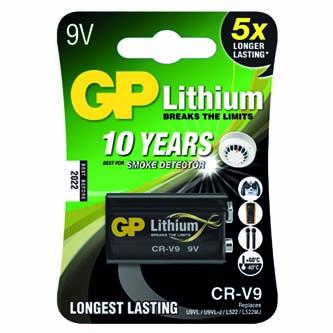 Baterie lithiová, CR-V9, 9V, GP, blistr, 1-pack