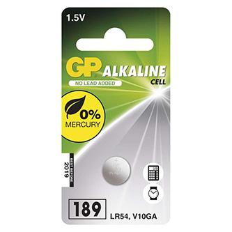 Baterie alkalická, AG10, LR54, LR1130, V10GA, 1.5V, GP, blistr, 1-pack