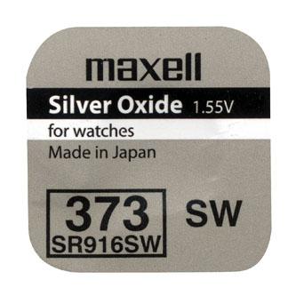 Baterie do hodinek, knoflíková, 373, SR916SW, 1.55V, Maxell, blistr, 1-pack