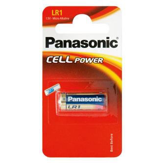 Baterie alkalická, LR1, 1.5V, Panasonic, blistr, 1-pack