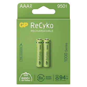 Nabíjecí baterie, AAA (HR03), 1.2V, 1000 mAh, GP, krabička, 2-pack
