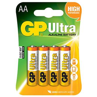 Baterie alkalická, AA, 1.5V, GP, blistr, 8-pack, ULTRA