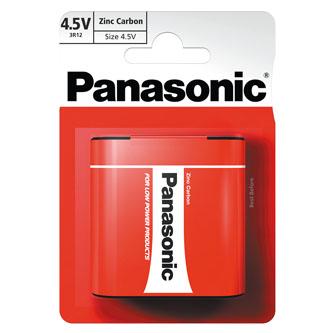 Baterie zinkouhlíková, 3R12, 4.5V, Panasonic, blistr, 1-pack