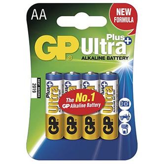 Baterie alkalická, AA, 1.5V, GP, blistr, 4-pack, ultra plus