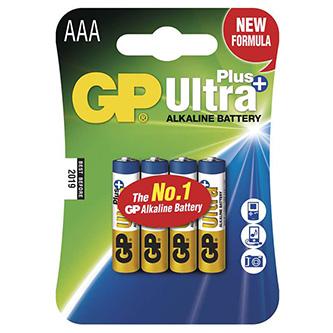 Baterie alkalická, AAA, 1.5V, GP, blistr, 4-pack, ultra plus