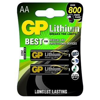 Baterie lithiová, AA, 1.5V, GP, blistr, 2-pack