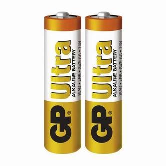 Baterie alkalická, AA, 1.5V, GP, fólie, 2-pack, Ultra