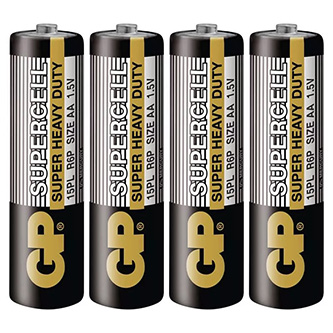 Baterie zinkouhlíková, AA, 1.5V, GP, fólie, 4-pack, Supercell