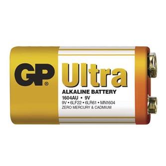 Baterie alkalická, R61, 9V, GP, fólie, 1-pack, ULTRA