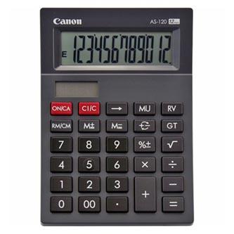 Canon Kalkulačka AS-120, černá, stolní, dvanáctimístná
