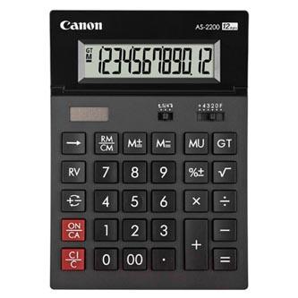 Canon Kalkulačka AS-2200, černá, stolní, dvanáctimístná