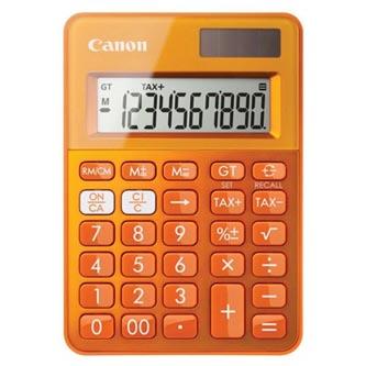 Canon Kalkulačka LS-100K, oranžová, stolní, desetimístná