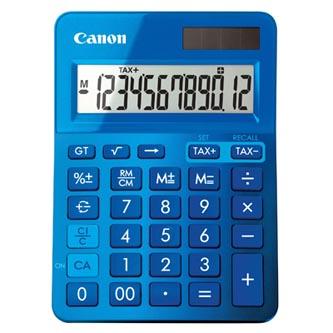 Canon Kalkulačka LS-123K, modrá, stolní, dvanáctimístná