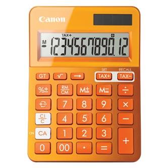 Canon Kalkulačka LS-123K, oranžová, stolní, dvanáctimístná