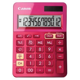 Canon Kalkulačka LS-123K, růžová, stolní, dvanáctimístná