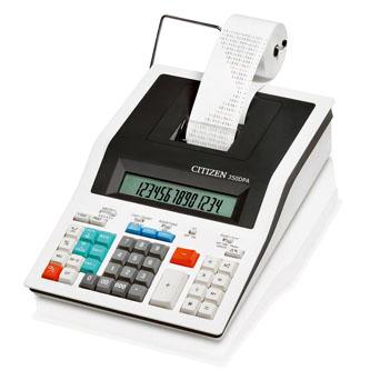 Citizen Kalkulačka 350DPA, bílá, dvanáctimístná s tiskem, síťové napájení, dvoubarevný tisk